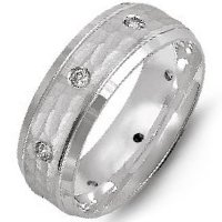 Item # M8967PP - Platinum Wedding Band Hammered