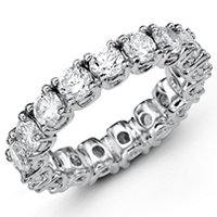 Diamond Eternity Band 18K White Gold