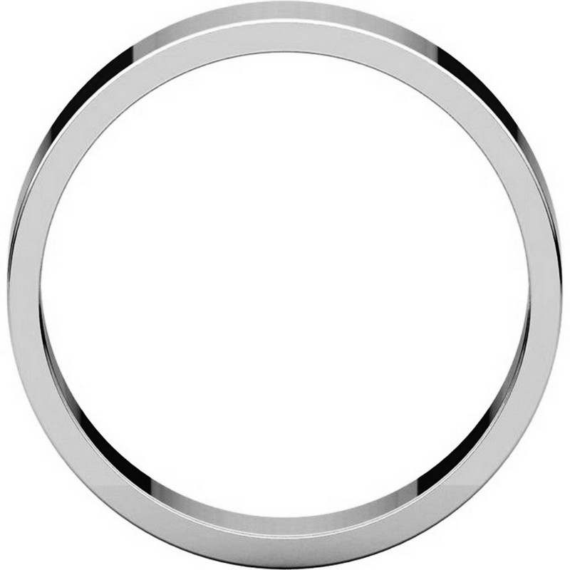 Item # N012505W - 14K White Gold 5mm Wide Flat Plain Wedding Band View-2