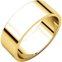 Item # N012507 - 14K Yellow Gold 7.0mm Flat Wedding Band