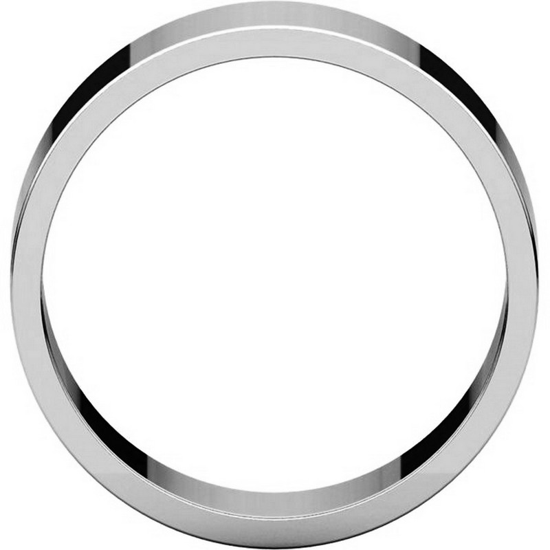 Item # N012507W - 14K White Gold 7.0mm Flat Band View-2
