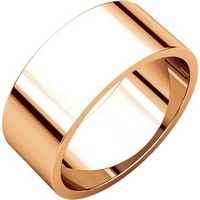 Item # N012508RE - 18K Rose Gold 8mm Wide Flat Plain Wedding Band