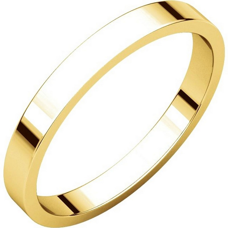 Yellow Gold 2.5mm Wide Flat Women