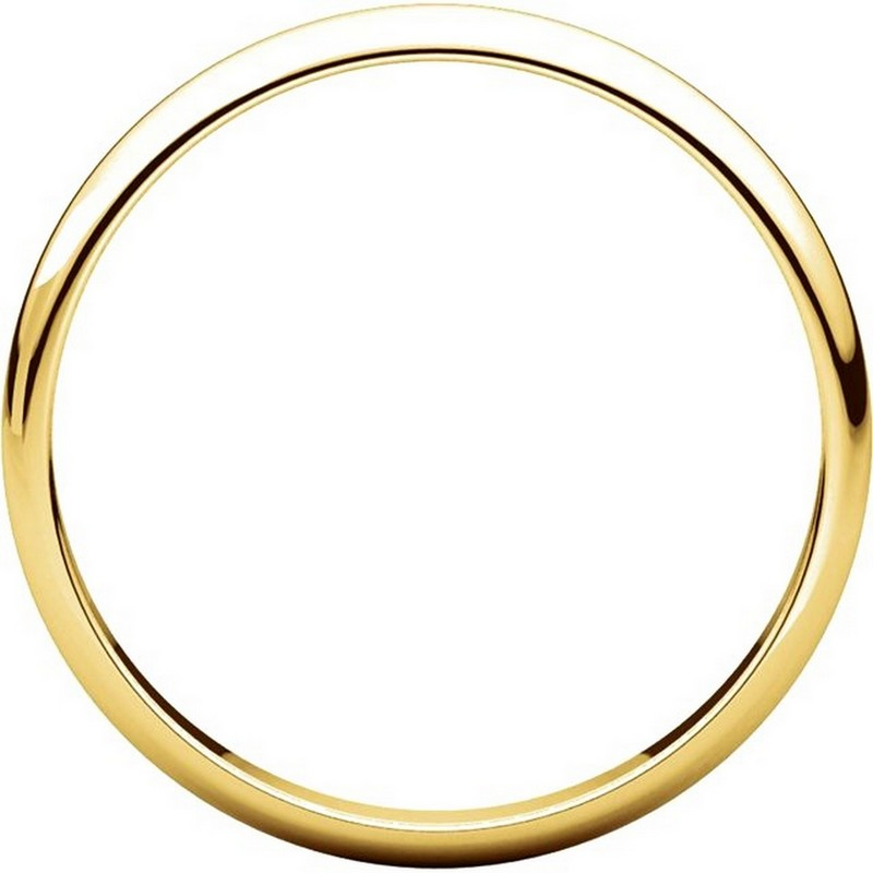 Item # P403825 - 14K Yellow Gold 2.5mm Wide Plain Wedding Ring View-2