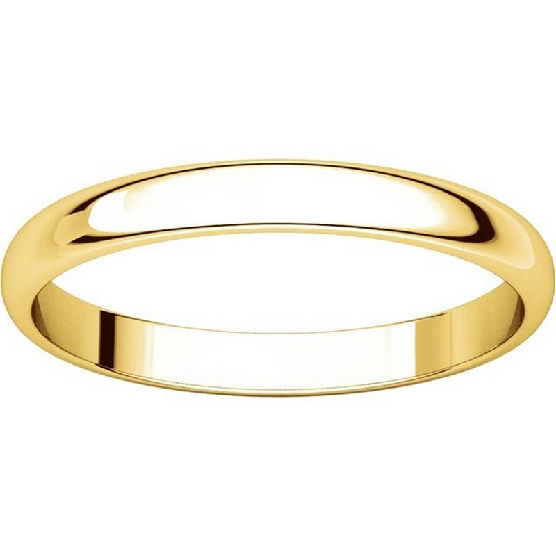 Item # P403825 - 14K Yellow Gold 2.5mm Wide Plain Wedding Ring View-3