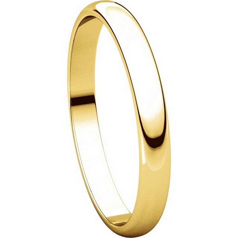 Item # P403825 - 14K Yellow Gold 2.5mm Wide Plain Wedding Ring View-5