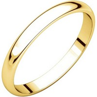 Item # P403825E - 18K Yellow Gold 2.5mm Wide Plain Wedding Ring