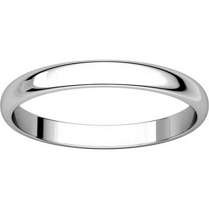 Item # P403825WE - 18K White Gold 2.5mm Wide Plain Wedding Ring View-3