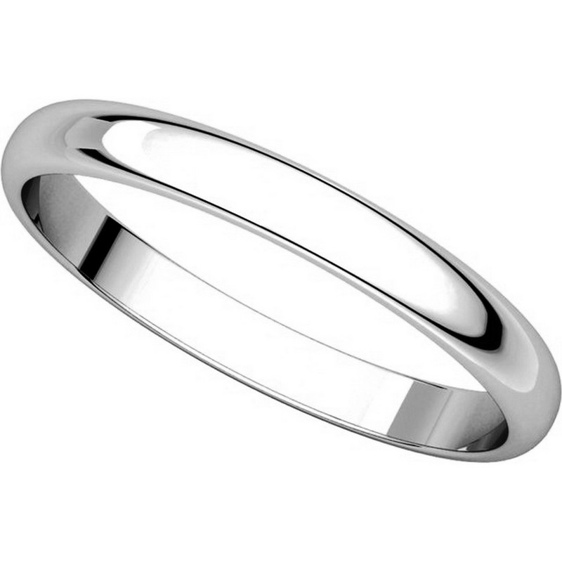 Item # P403825WE - 18K White Gold 2.5mm Wide Plain Wedding Ring View-4