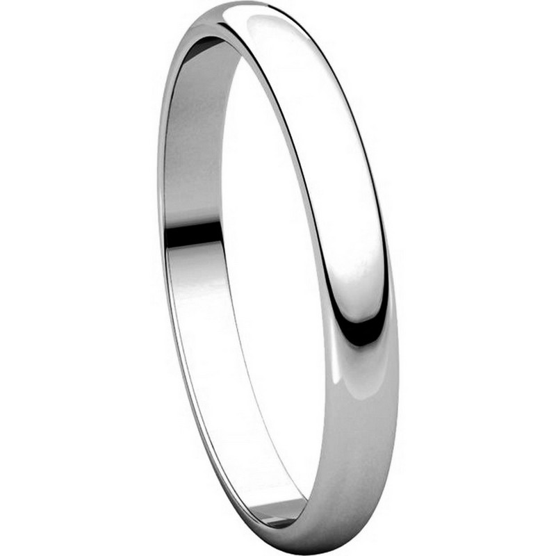 Item # P403825WE - 18K White Gold 2.5mm Wide Plain Wedding Ring View-5