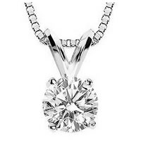 Item # P70501W - 1/2 ct Diamond 14K Pendant
