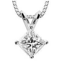 Item # P70502W - 1/2 ct  Diamond 14K Pendant.