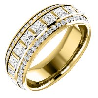 Item # S127667E - Diamond Eternity Band 18K Gold