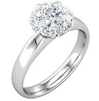 Item # S127676W - Cluster Diamond Ring
