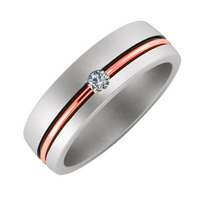 Diamond Wedding Band Platinum-18K Gold