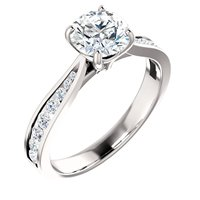 Item # S128692AWE - Engagement Ring 18K White Gold