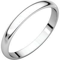 Item # S149002W - White Gold Plain Band