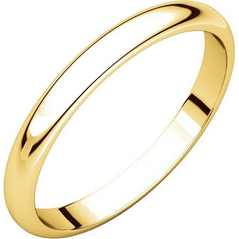 Item # S154002E - 18K Gold 2.5mm Wide Wedding Band View-1