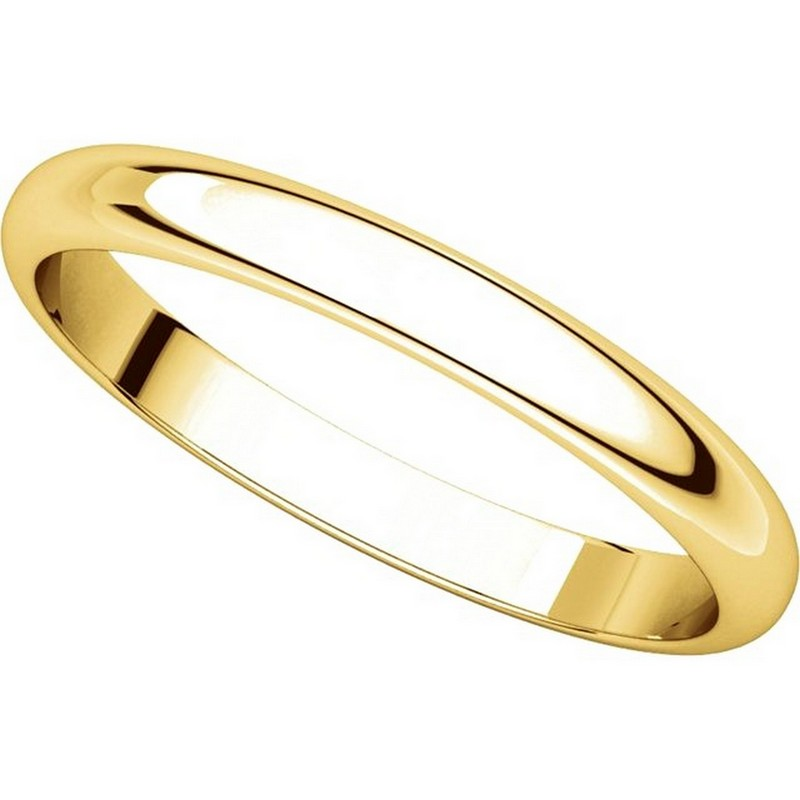 Item # S154002E - 18K Gold 2.5mm Wide Wedding Band View-4
