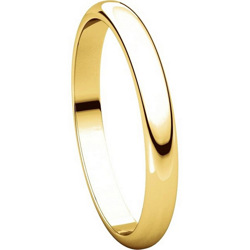 Item # S154002E - 18K Gold 2.5mm Wide Wedding Band View-5