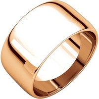 Item # S166926RE - 18K Rose Gold 10mm Wedding Rings
