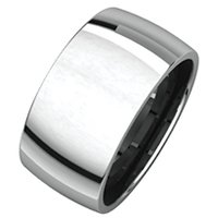 Item # S217932W - 14K 10.0mm Wide Plain Wedding Band