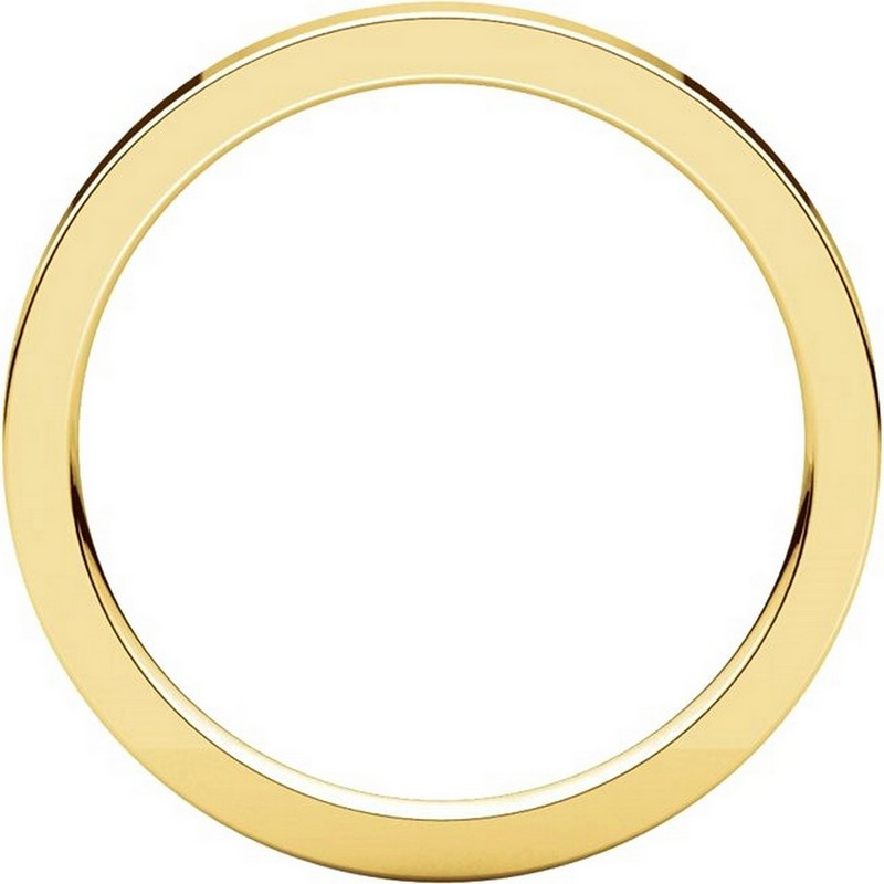 Item # S229561 - 14K Gold Flat Wedding Band View-2