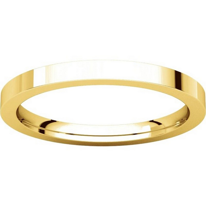 Item # S229561 - 14K Gold Flat Wedding Band View-3