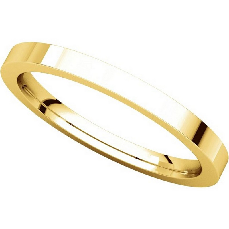 Item # S229561 - 14K Gold Flat Wedding Band View-4