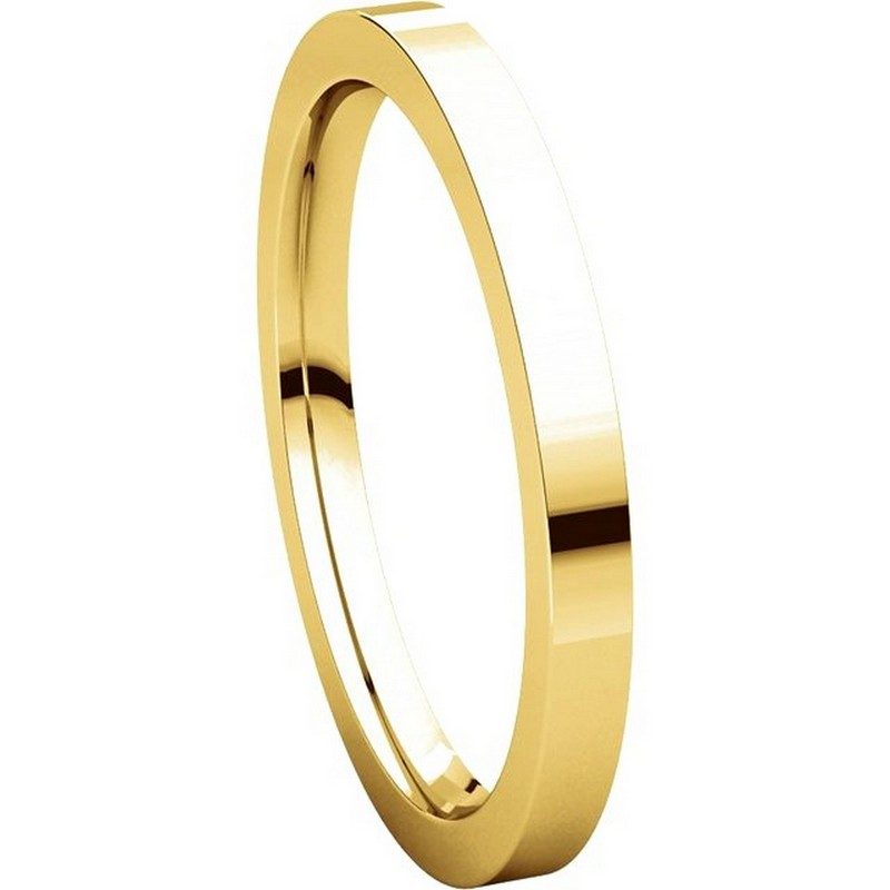 Item # S229561 - 14K Gold Flat Wedding Band View-5