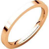 Item # S229561RE - 18K Rose Gold Wedding Band Flat