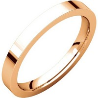 Item # S231376R - 14K Rose Gold Flat Comfort Fit Band