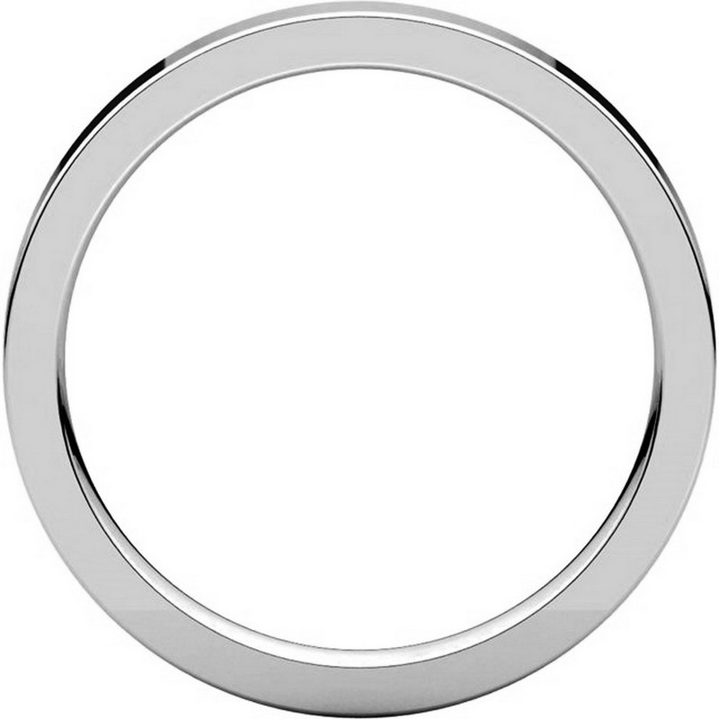 Item # S231376W - 14K White Gold Comfort Fit Flat Band View-2