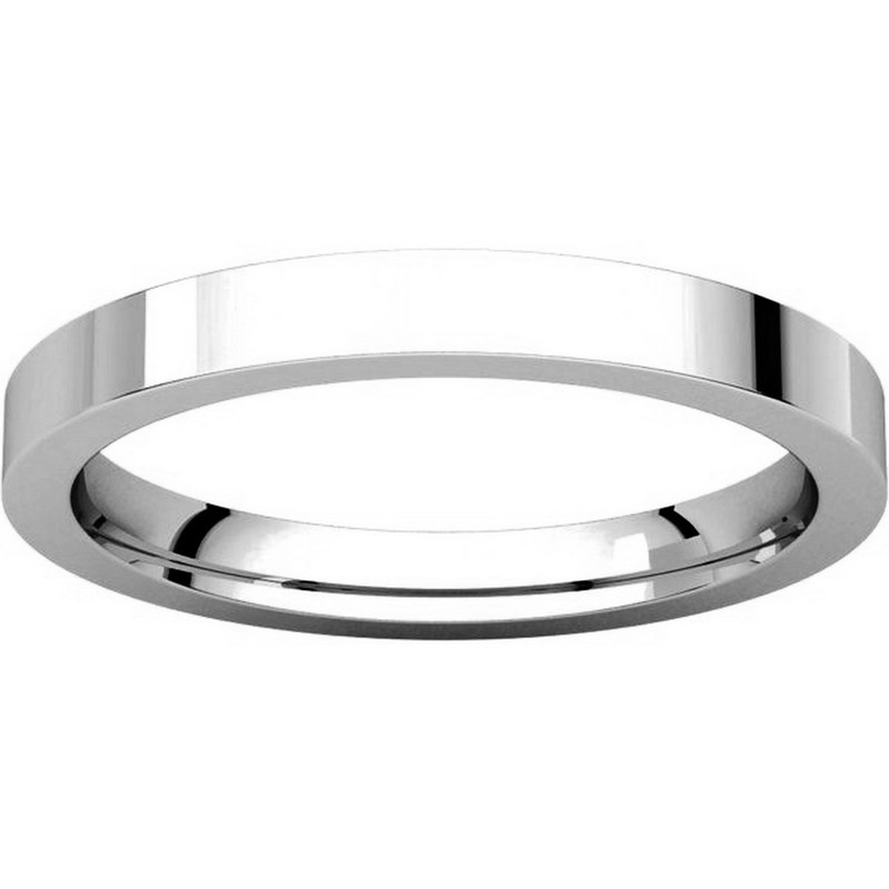 Item # S231376W - 14K White Gold Comfort Fit Flat Band View-3