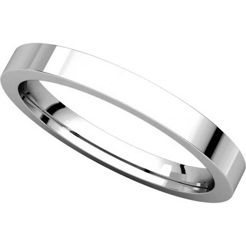 Item # S231376W - 14K White Gold Comfort Fit Flat Band View-4