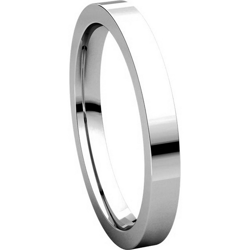 Item # S231376W - 14K White Gold Comfort Fit Flat Band View-5