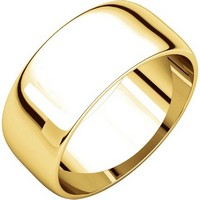 Item # S38457E - 18K Gold 8.0mm Wide Wedding Band