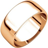 Item # S38457R - 14K Rose Gold 8.0mm Wide Wedding Band