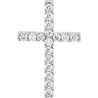 Item # S47835W - 14Kt White Gold Diamond Cross