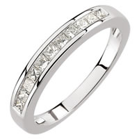 Item # S67857W - Anniversary Band 14K Gold Princess Cut