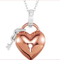 Item # S74344AG - Diamond Heart Necklace