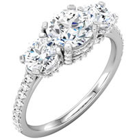 Item # S74582AW - 2.0ct Diamond Engagement Ring