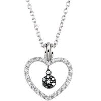 Item # S75633AG - Black and White Diamond Heart
