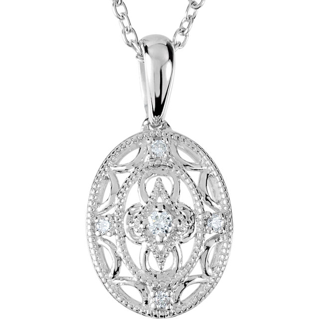 "Diamond 18"" Necklace"
