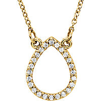 Item # S91543 - 14Kt Yellow Gold Tear Drop Pendant
