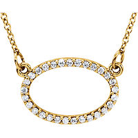 Item # S91545 - 14Kt Yellow Gold Oval Pendant