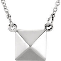 Item # S91553W - 14Kt White Gold Pyramid Pendant