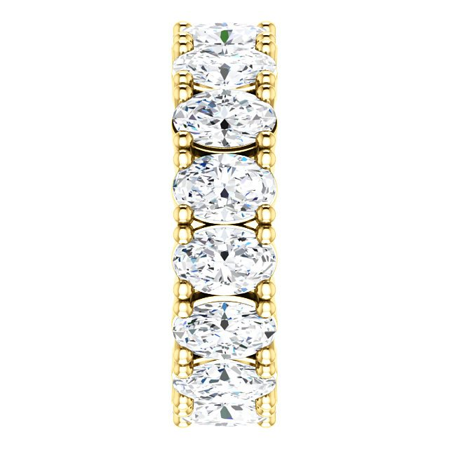 Oval Shape Diamond Eternity Ring