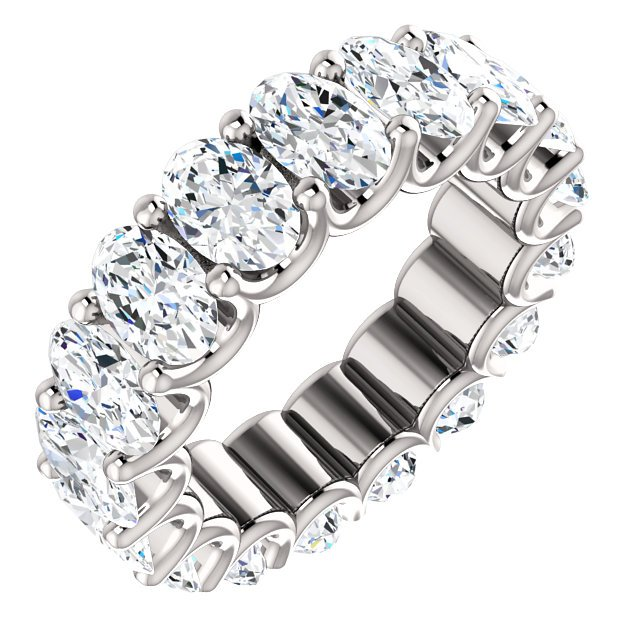 Item # SO128869700PP - Oval Diamond Eternity Band View-1