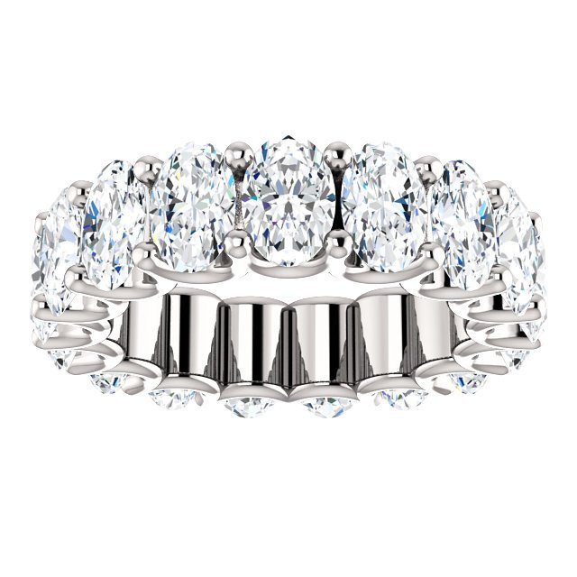 Item # SO128869700PP - Oval Diamond Eternity Band View-3